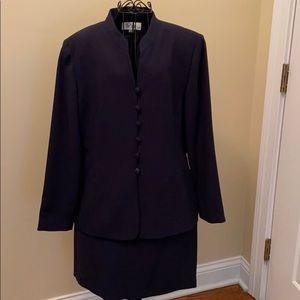 Le Suit navy skirt suit